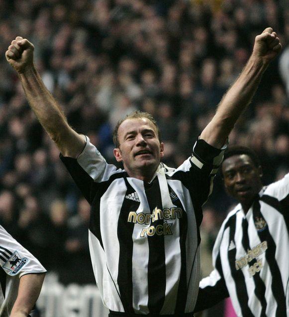 Alan Shearer scoorde in zijn afscheidswedstrijd voor Newcastle