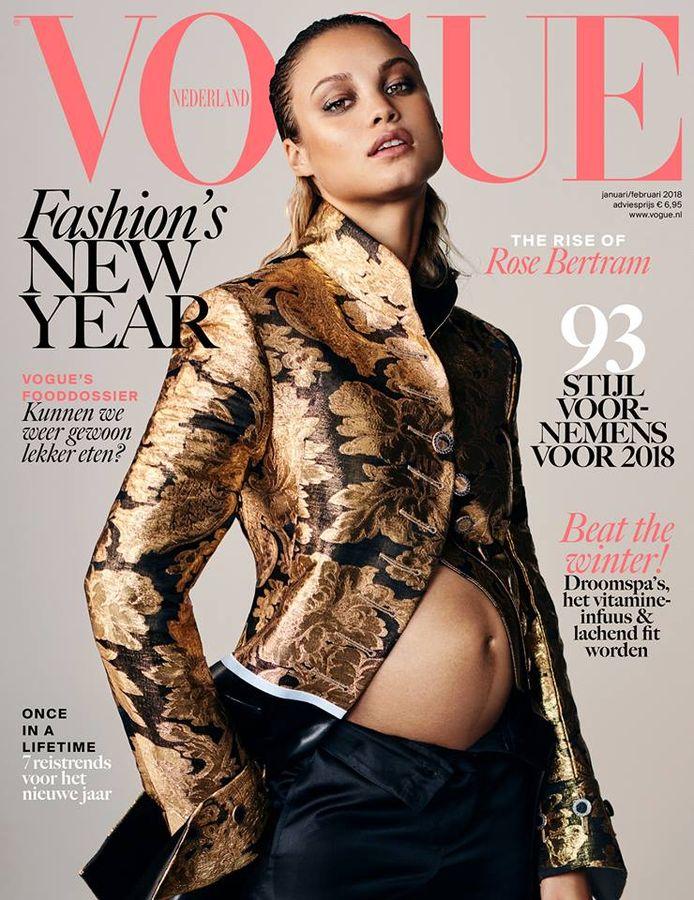 Rose Bertram op de cover van Vogue.