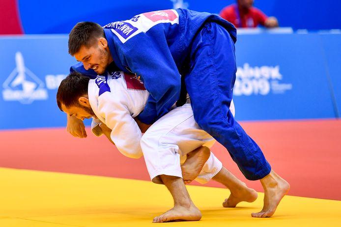 Kenneth Van Gansbeke, hier tijdens de European Games in Minsk, overleefde in Tel Aviv de tweede ronde niet.
