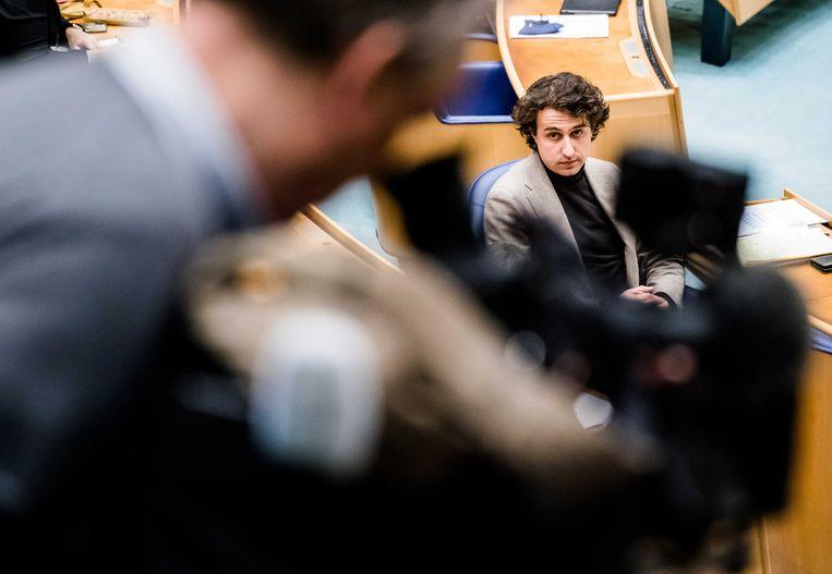GroenLinks-leider Jesse Klaver hoopt dat het voorstel over gratis kinderopvang op een 'sociale meerderheid' kan rekenen.  Beeld ANP