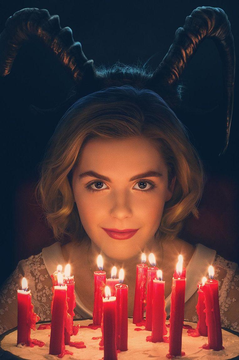 Kiernan Shipka in 'Chilling Adventures of Sabrina'. Beeld RV