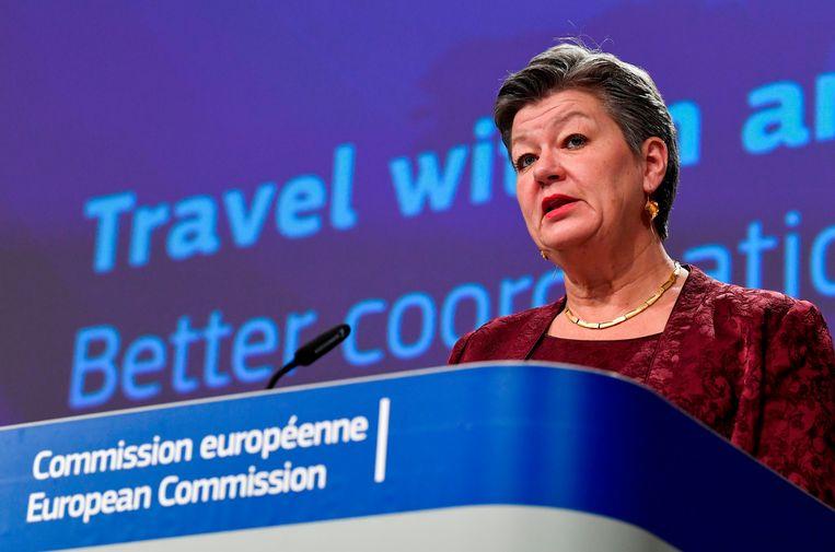 Europees commissaris voor Binnenlandse Zaken en Migratie Ylva Johansson. Beeld AP