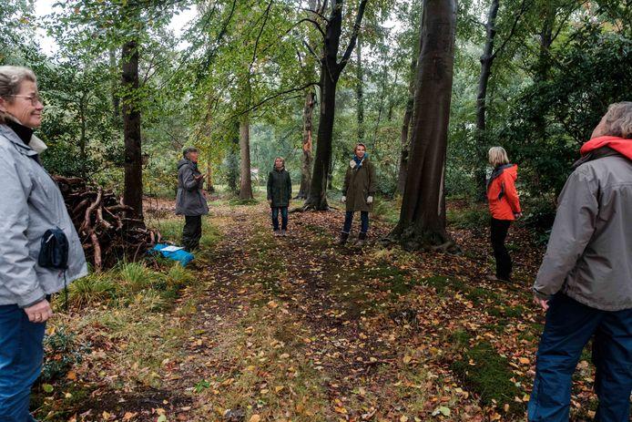 Donatienne Dierckx-de Borman geeft bosbaden in Bautersemhof waarbij deelnemers opnieuw in contact kunnen komen met de natuur.