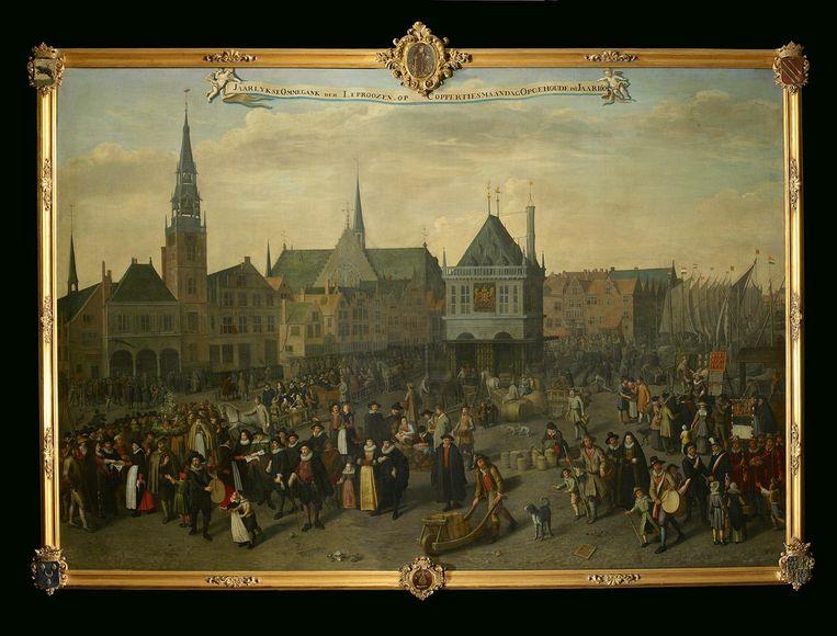 Koppertjesmaandag, Adriaen van Nieulandt (1633) Beeld collectie Amsterdam Museum