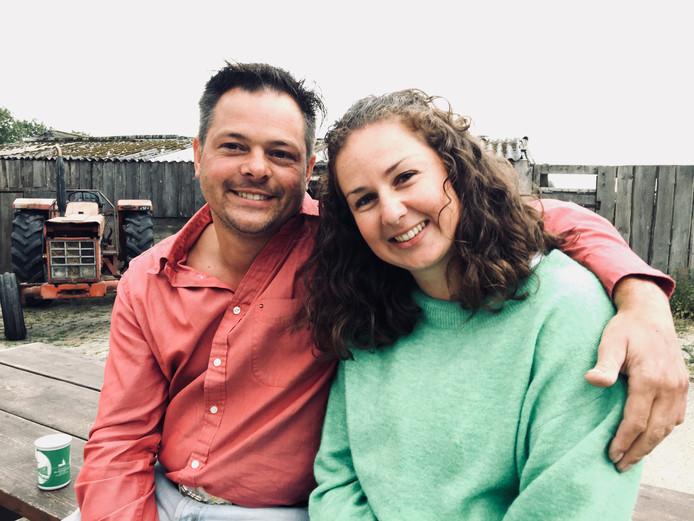 Boer Marnix (40) en de vrouw die hij uiteindelijk niet zocht, Steenbergse Janneke (33).