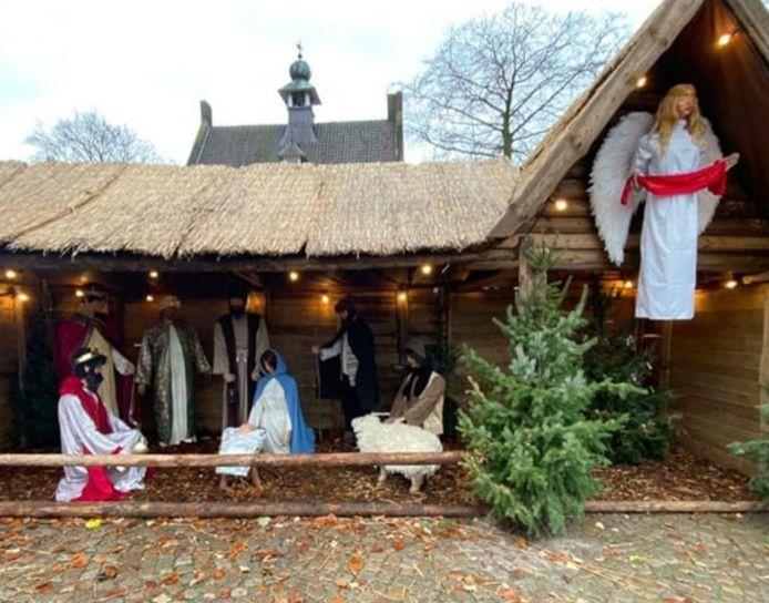 De kerststal in Nistelrode werd deze week vernield.
