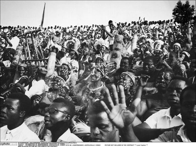Feest in Kinshasa (toen Leopoldstad) ter ere van de Congolese onafhankelijkheid.  Beeld photo_news