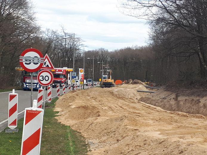 Voorbereidende werkzaamheden voor de aanleg van de Westelijke Rondweg in 2019.