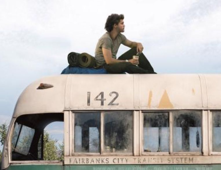 Emile Hirsch in Into the Wild. Beeld