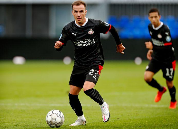 Mario Götze bij zijn eerste duel voor PSV. Vandaag speelt hij voor het eerst in 2021.