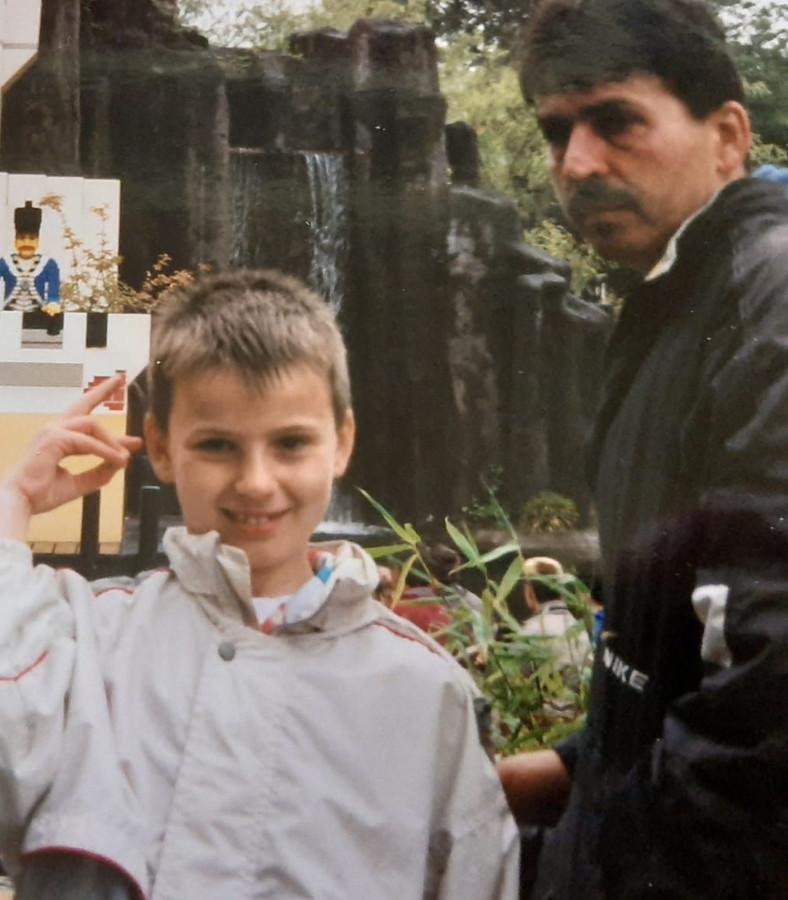 Bryan met zijn vader.