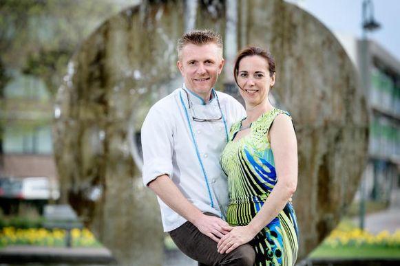 Mark en Inge van Hotel Koeckhofs, ten tijde van hun deelname aan 'Met Vier in Bed'.
