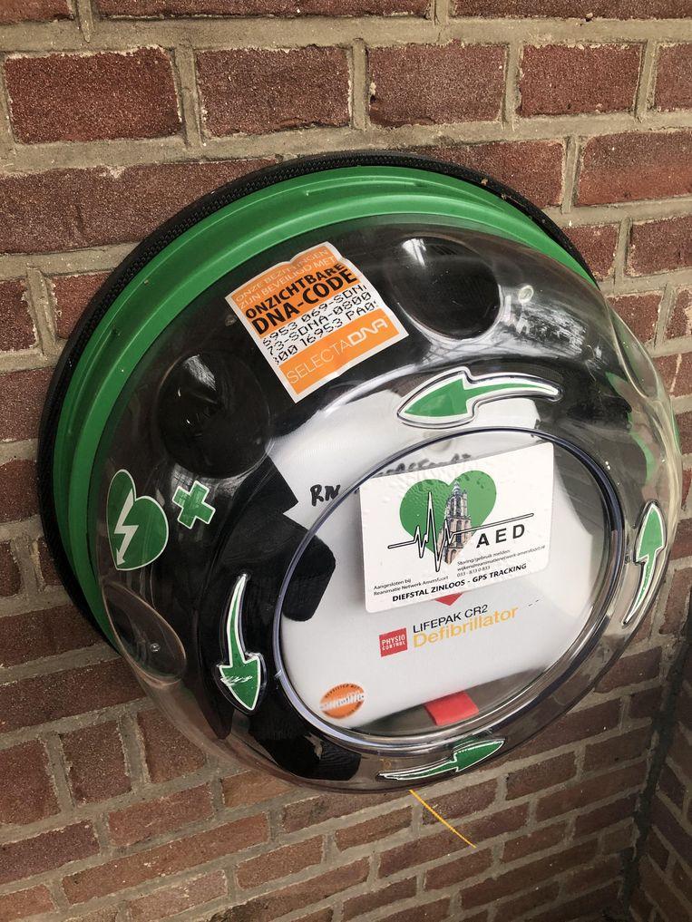 Een AED met een SelectDNA markering. Beeld Reanimatie Netwerk Amersfoort