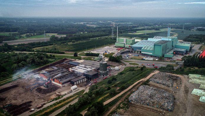 Het complex van afvalverwerker Twence in Hengelo.