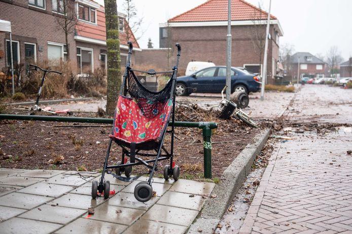 De Gersstraat in Enschede in de ochtend na het incident