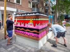 Tilburgs trafohuisje wordt 'taart': pluim voor Enexis, middelvinger voor gemeente