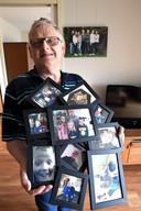 Grote foto's hangen er op de muren in de appartementen. Jan is trots op zijn familie.
