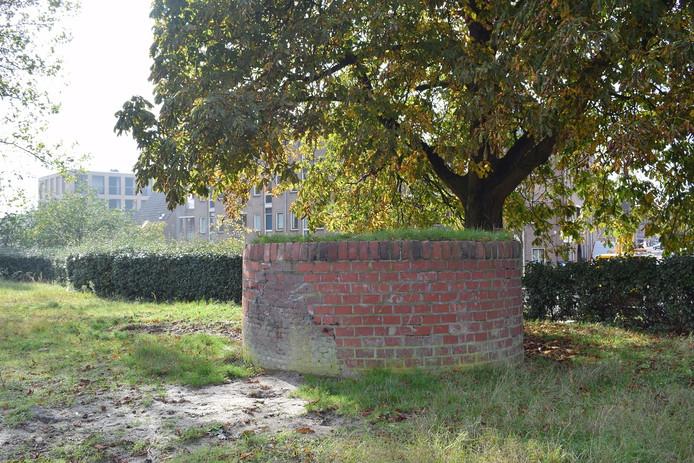 Het muurtje in het Ankerpark