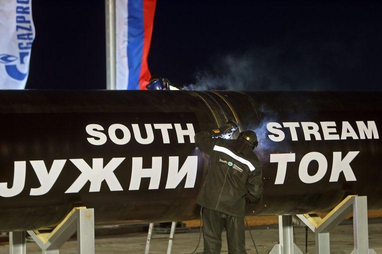 De lancering van het South Stream-project in november vorig jaar. Beeld epa