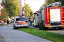 Politie en brandweer ter plekke kort nadat het drama zich voltrok op het spoor bij Station Oss-West.