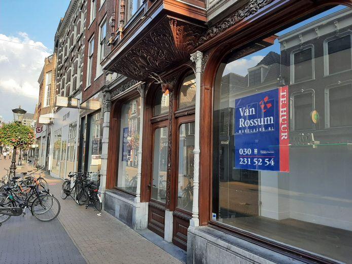 Leegstand op de Steenweg in Utrecht