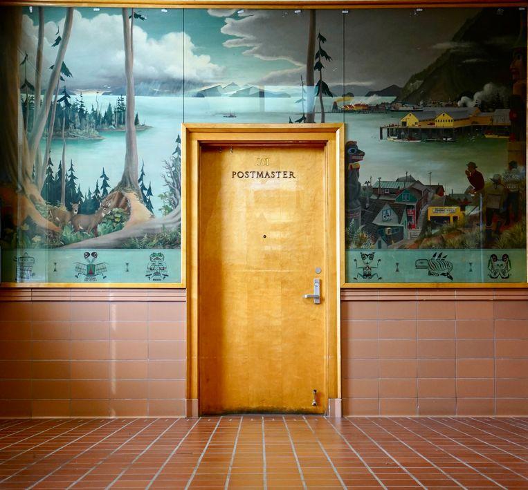 Een postkantoor in Alaska. Beeld Accidentally Wes Anderson