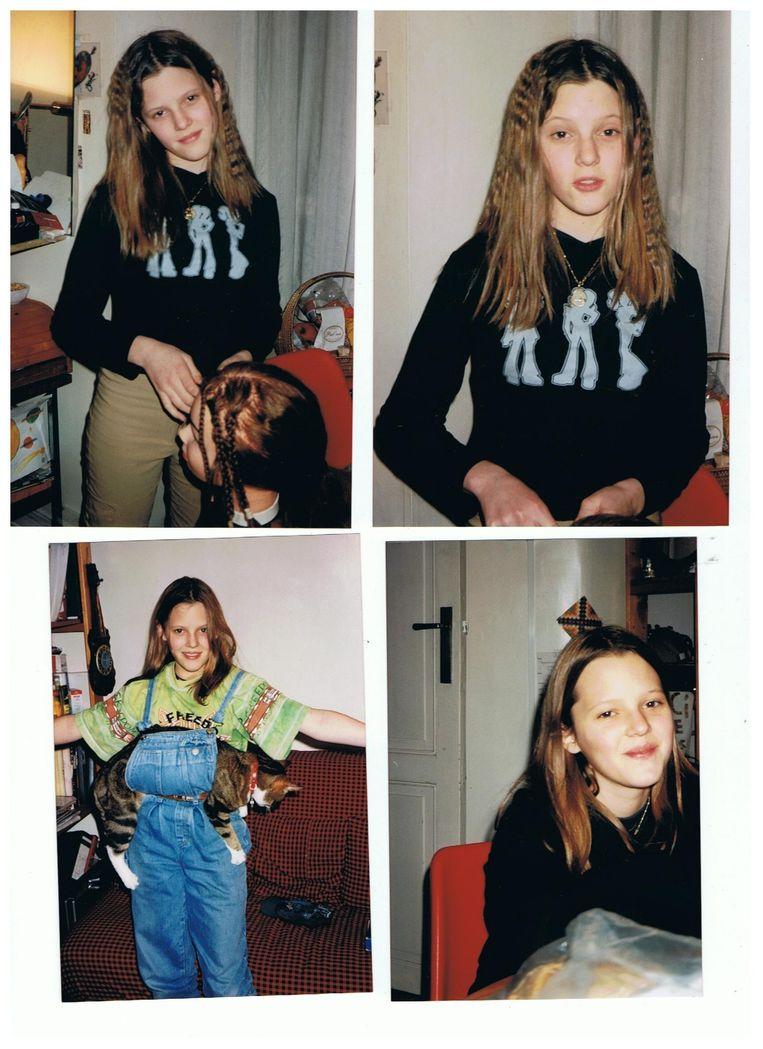 Julie Maes als kind. Beeld RV