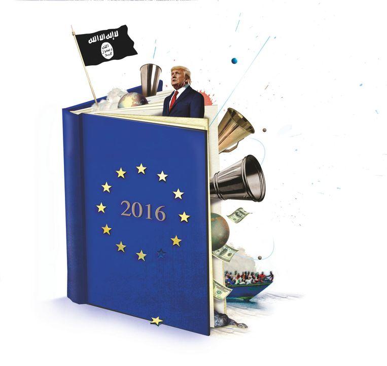 Er gebeurde een heleboel in en met Europa in 2016, maar hoe dit alles te duiden? Beeld Studio Vonq