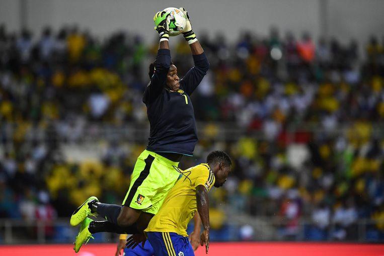 Fabrice Ondoa, doelman bij Kameroen. Beeld afp