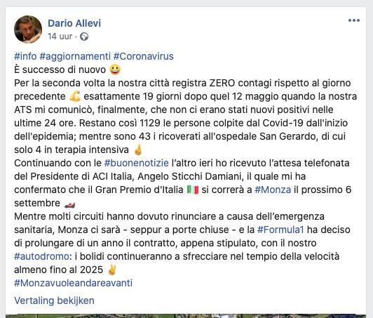 De post van Dario Allevi