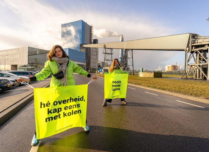 Actievoerders bij de kolencentrale