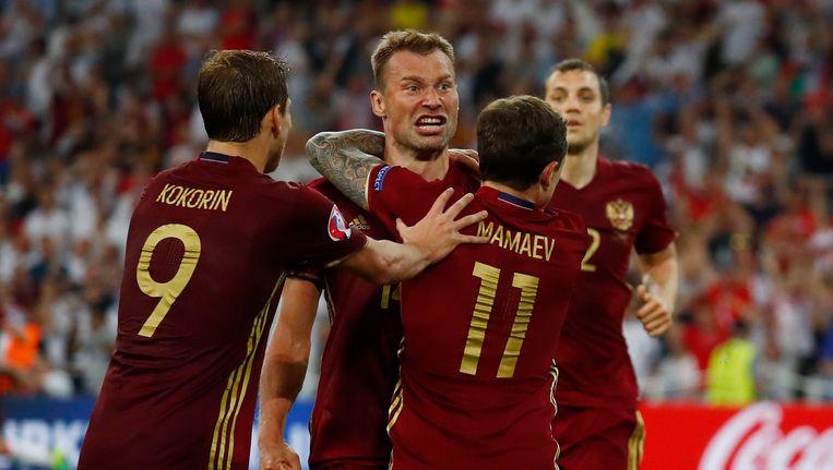 Rusland kon op het EK in Frankrijk slechts één puntje pakken. Beeld Photo News
