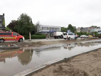 Wateroverlast in werfzone op Vesten na overvloedige regenval