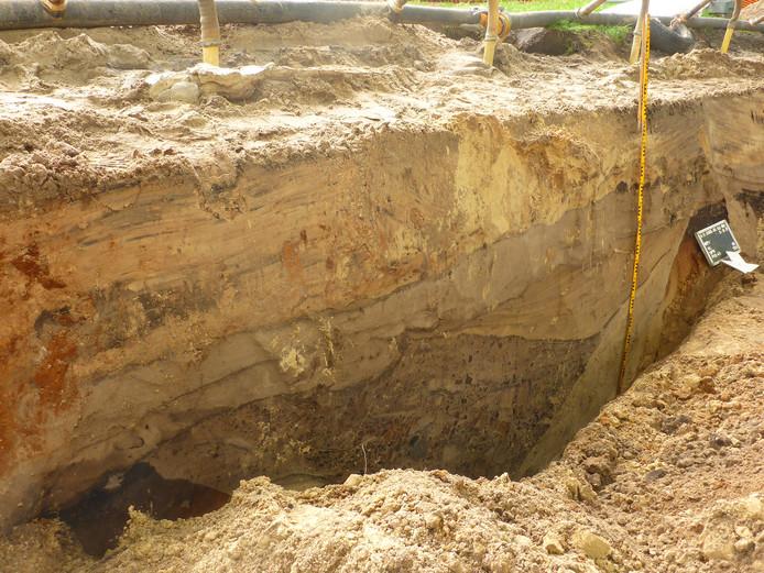 Tijdens werkzaamheden aan de Loonsebaan in Vught zijn archeologen gestuit op restanten van de linie 1629.
