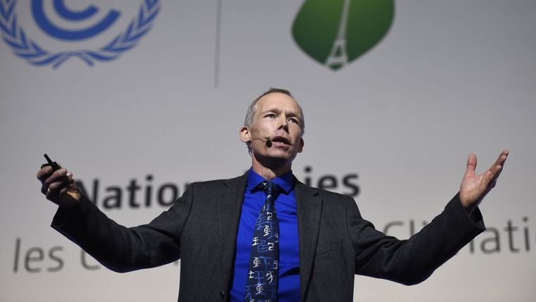 Johan Röckström van het Stockholm Resilience Center. Beeld AFP