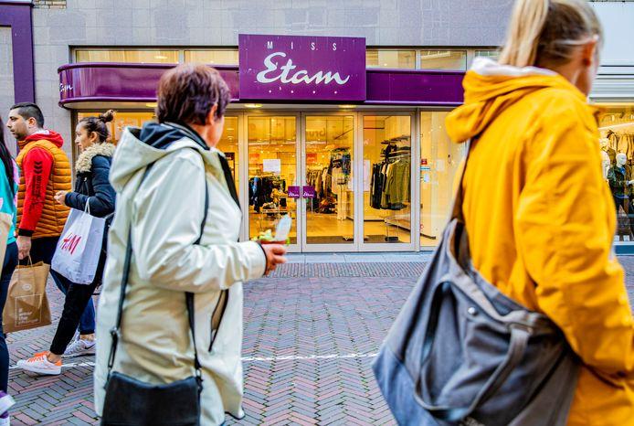De gesloten Miss Etam in Deventer.