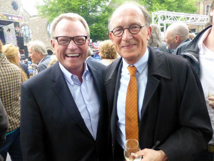 Jack Sammons (Memphis) en Fred de Graaf (wnd burgemeester Enschede).