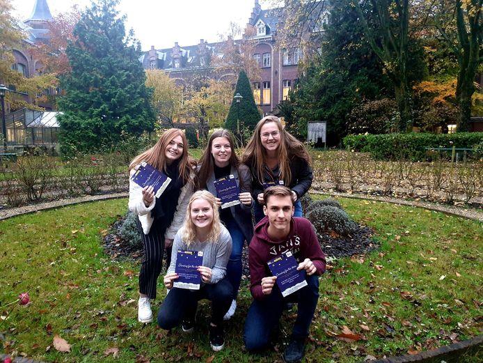 De vijf studenten van HoGent.
