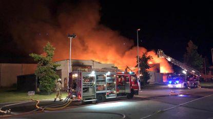 VIDEO. Brandweerlieden bestrijden vuurzee in schrijnwerkerij