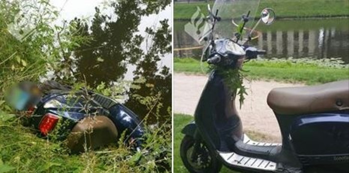 De opgedregde scooters. Foto: Politie Zwolle