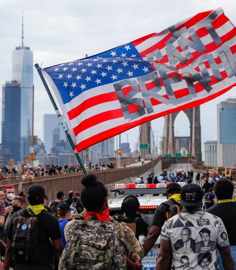 Politie grijpt in bij demonstratie tegen racisme in New York