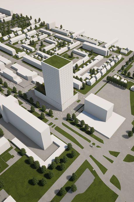 Nieuwe torenflat in Spijkenisse zou in eerste instantie nóg hoger worden, maar dat is 'te gortig'