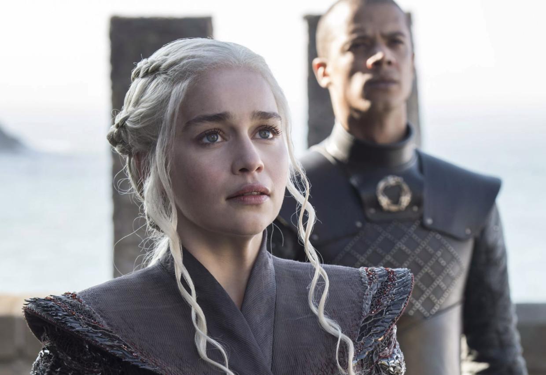 Drakenkoningin Daenerys Targaryen in 'Game Of Thrones'. Beeld HBO