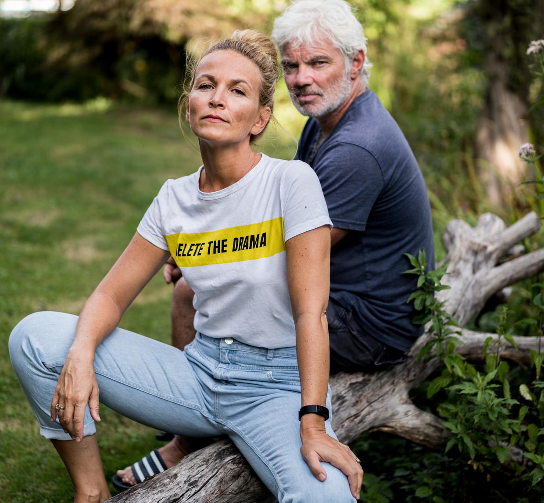 Ann Van den Broeck en Stany Crets. 'Als wij onze musical 'Mama Mia' voor tweehonderd mensen moeten spelen, dan gaan we failliet.' Beeld Wouter Van Vooren