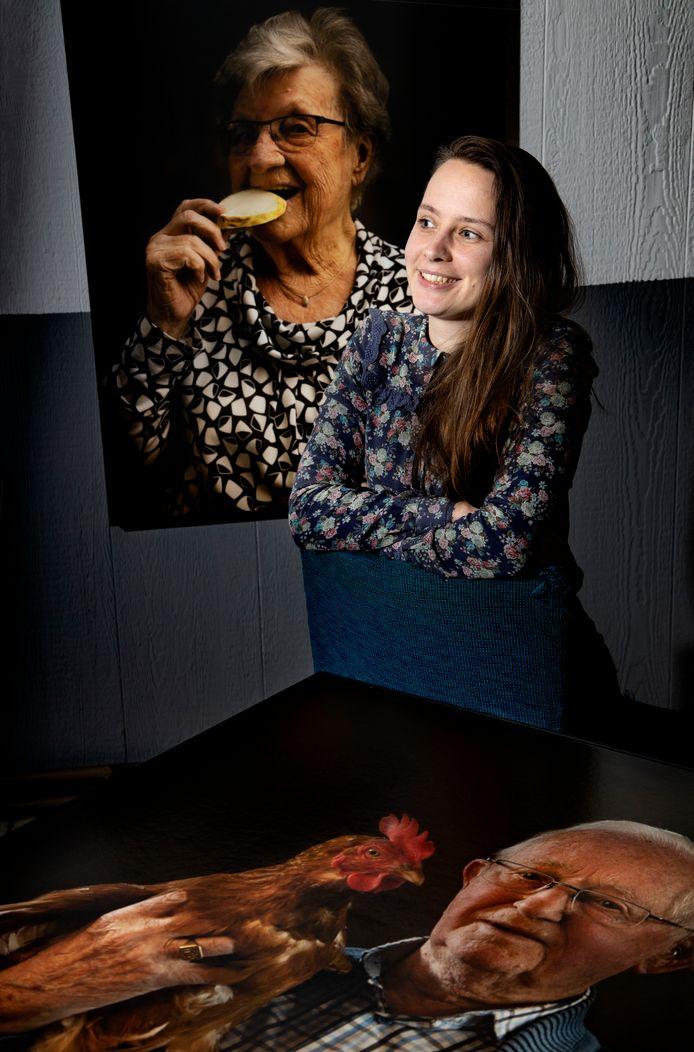 Tahné Kleijn in haar atelier in Helmond