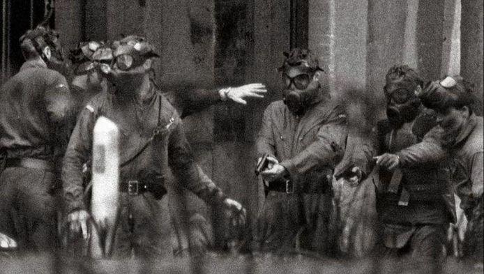 Une intervention du groupe Diane en 1984. A cette époque, le Géant ne fait plus partie de l'unité: il a été remercié suite à un tir accidentel.