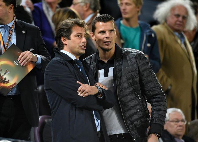 Christophe Henrotay, hier links van Daniel Van Buyten.