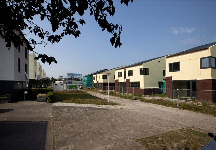 De woningen in het project Houtse Akker in Helmond.