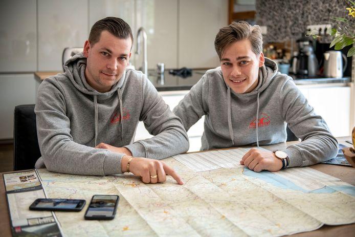 De broers Jeroen (links) en Jelmer Remmerts hebben het online reisbureau Traveldash opgezet dat reizen organiseert naar Georgië.