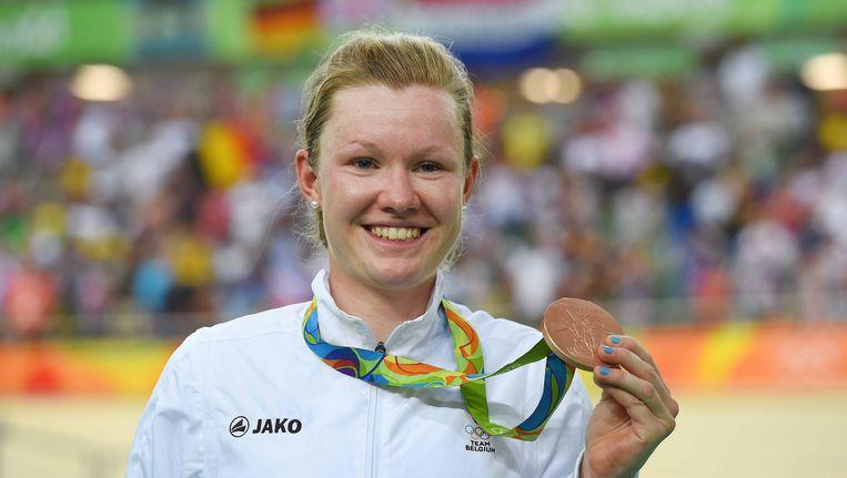 Jolien D'hoore pakte al de vijfde medaille voor ons land. Beeld TDW